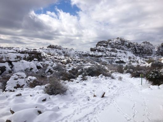 sneeuw el torcal